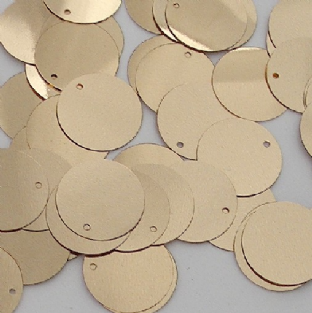 10mm Flat Round Metallic Gold Sequins.